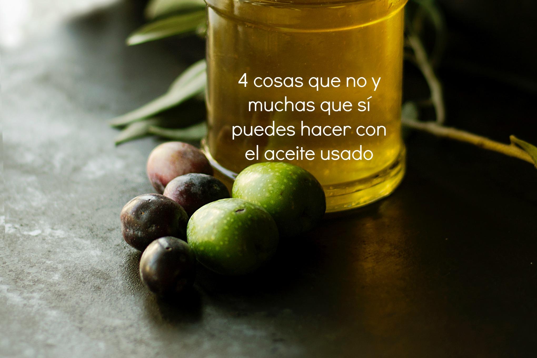 4 cosas que no y muchas que s puedes hacer con el aceite - Aceite usado de cocina ...